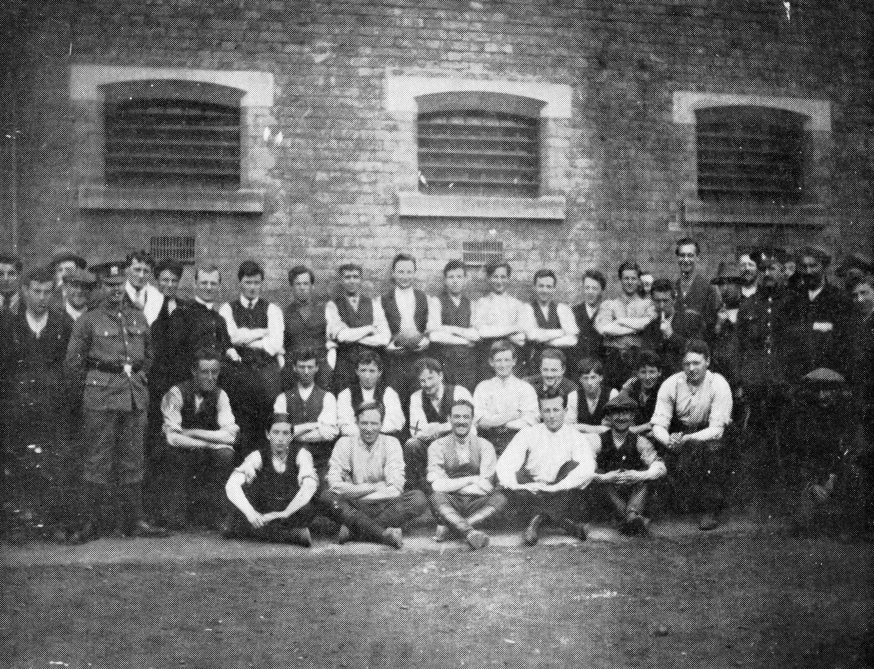 Gaelic Football Teams posing in Stafford Jail, 1916