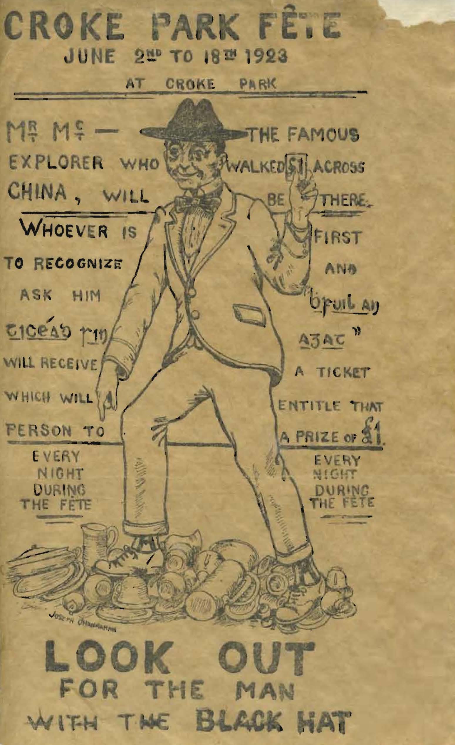 1923 Croke Park Fête Poster