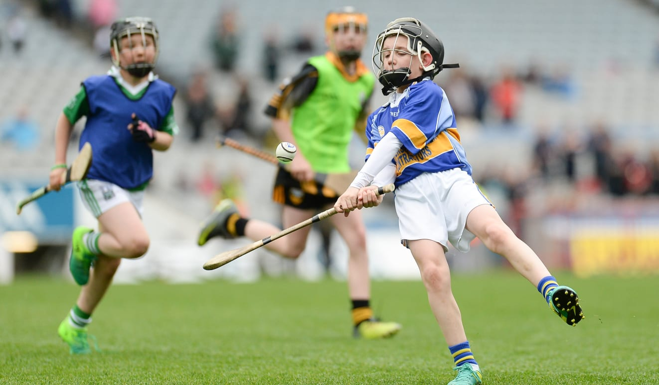 Noah Rogers shows the young talent of Portaferry while hurling in the 2017 Go Games Provincial Days at Croke Park.
